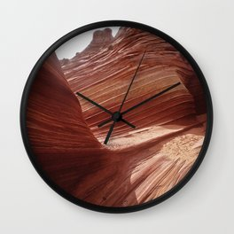 Epic Red Rock Canyons: The Wave Paria Widerness Wall Clock