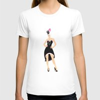 burlesque T-shirts featuring Burlesque Woman by Anca Avram
