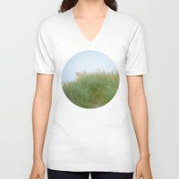 dune V-neck T-shirts featuring Dune Grass by A Wandering Soul
