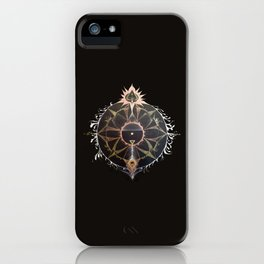 Saraswati Mandala Black iPhone Case