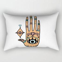 evil eye hand illustration Rectangular Pillow