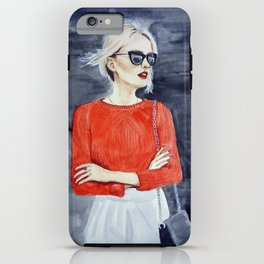 Watercolor lady iPhone Case