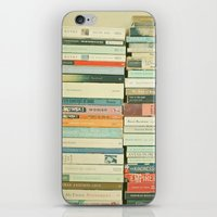 library iPhone & iPod Skins featuring Bookworm by Cassia Beck