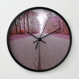 Misty Wonderland Road Wall Clock