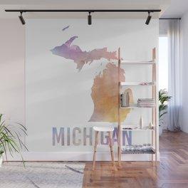 Watercolor State - MI Wall Mural