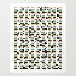 Stripes and Spots  Art Print