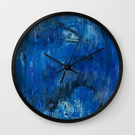 Sea Graffiti Wall Clock