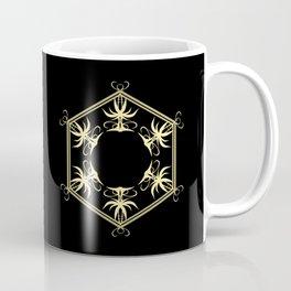HEXAGON BLACK GRAPHIC ART Coffee Mug