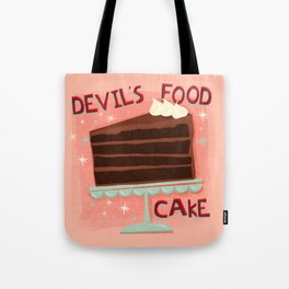 Devil's Food Cake An All American Classic Dessert Tote Bag