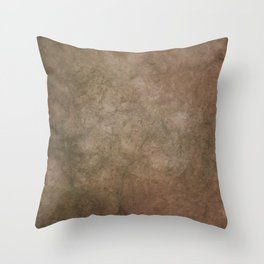 Old brown cracked background Throw Pillow