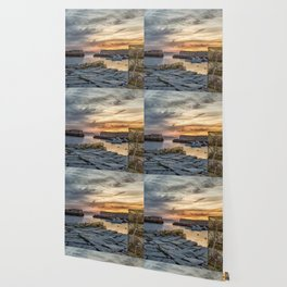 Lobster Trap sunset at lanes cove Wallpaper