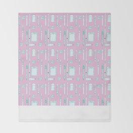 an artists pattern Throw Blanket