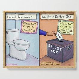 Flush Them Out- Vote Vote Vote Serving Tray