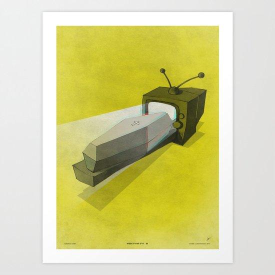 What's on TV? / II Art Print