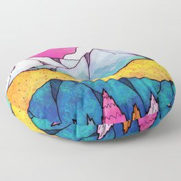 The lands of colours Floor Pillow
