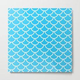 Let´s be mermaids - Aqua Teal Mermaidscales - into the Sea Metal Print