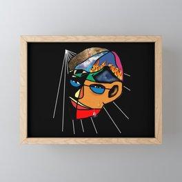 Facets Of Man Framed Mini Art Print