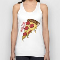 pizza Tank Tops featuring Pizza by jeff'walker