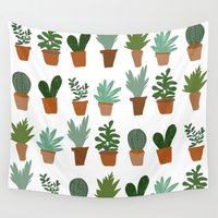 succulent Wall Tapestries featuring succulent by Carrie Radford