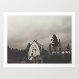 Semi-inviting Lodge Art Print