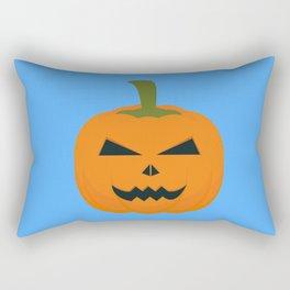 Evil Halloween pumpkin Rectangular Pillow