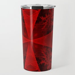 Red abstract 1 Travel Mug