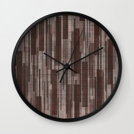 Brown Line Grid Wall Clock