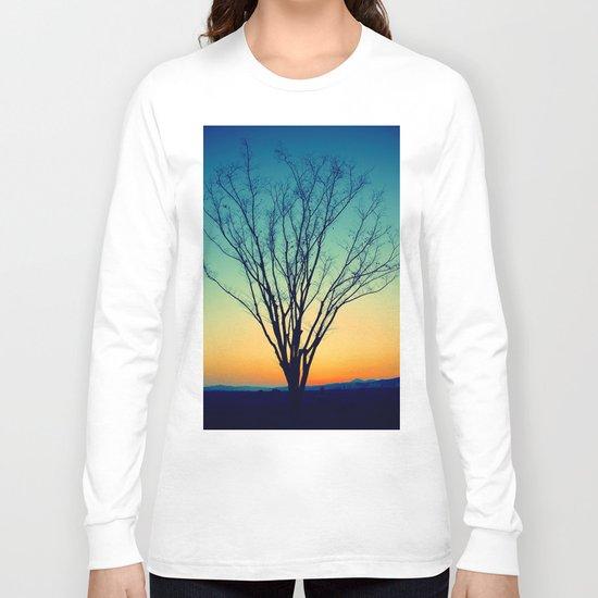 Winter Sunset Tree Long Sleeve T-shirt
