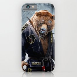 Jiu Jitsu Grizzly iPhone Case