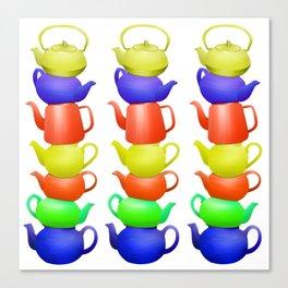 Teapot  Pattern Canvas Print