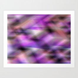 abstract blurry pattern: violet, black, pink Art Print