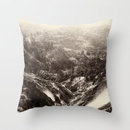 Devil's Canyon, geysers, looking down Throw Pillow