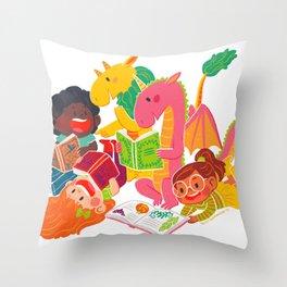 Reading Fun Throw Pillow