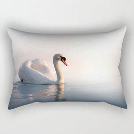 Swan Sunrise Rectangular Pillow