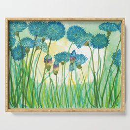 May your cornflowers never fade Serving Tray