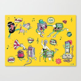 Musical Media Melee Canvas Print