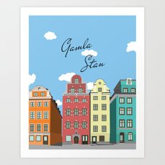 Gamla Stan Stockholm Art Print