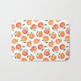 Watercolor oranges Bath Mat