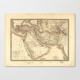 Map of the Middle East (1842) Canvas Print