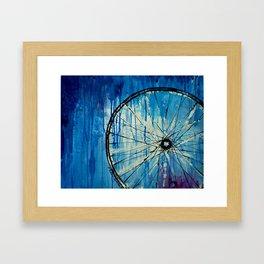 Blue Bicycle Framed Art Print