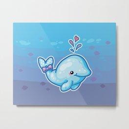 PolkaDot Whale Metal Print