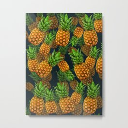 Pineapple Party Metal Print
