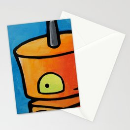 Robot - I See You Looking Back At Me Stationery Cards