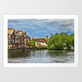 Eton College Chapel From The Thames Art Print