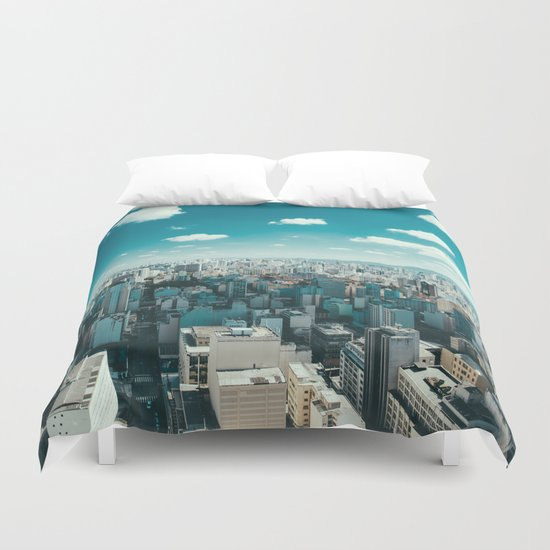 city blue 4 Duvet Cover