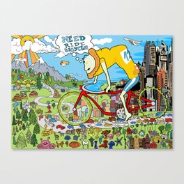 Need Ride Bicycle Canvas Print
