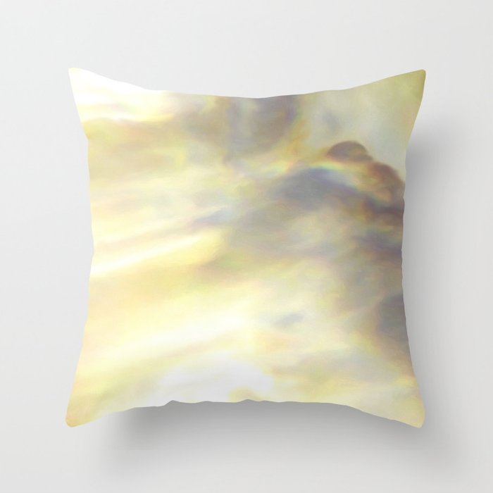 Christmas Lights and White Wine Throw Pillow