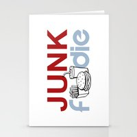 junk food Stationery Cards featuring I HEART Junk Food by HemantS