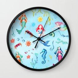 Mermaid Party Wall Clock