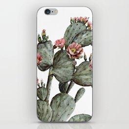 Prickly Pear Cactus Painting iPhone Skin